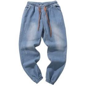 男性のジーンズ、三番目の店 スリムフィット スポーツ ファッション カジュアル 快適 弾力 メンズ カジュアル 秋 デニム コットン ヴィンテージ ヒップホップ ズボン 細断されたジーンズ プラスサイズ パンツ