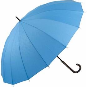 和柄 傘 上品な 和風 透かし エンボス加工16本骨 グラスファイバー 骨 使用 ジャンプ傘 婦人傘 (麻の葉柄水色)