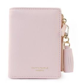 JIEKERY ミニ 財布 レディース 二つ折り 可愛い ウォレット 財布 カードケース 小銭入れ カード収納 プレゼントに (ピンク)