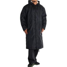 ベンチコート メンズ 大きいサイズ 中綿 ロングコート フード 裏ボア 68755 4L ブラック