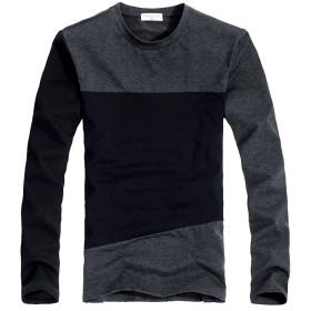 Calme(カルム) メンズ 長袖 カットソー きれいめ ロング Tシャツ 柔らかな着心地 春 秋 冬 (M)