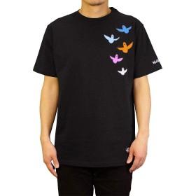[Mark Gonzales]Tシャツ マークゴンザレス メンズ カラフルエンジェルズ (Medium, ブラック)