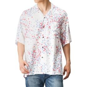 Free Nature HAWAII(フリーネイチャー ハワイ) レーヨンアロハシャツ桜 PM183-MF081 メンズ ホワイト:XL