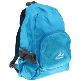 ナイロン製 男女兼用 折りたたみ式 超軽量 バックパック ハイキング キャンプ リュックサック 20L 8色選ぶ - 青