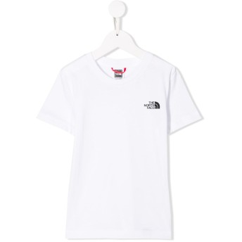 The North Face Kids チェック ロゴ Tシャツ - ホワイト