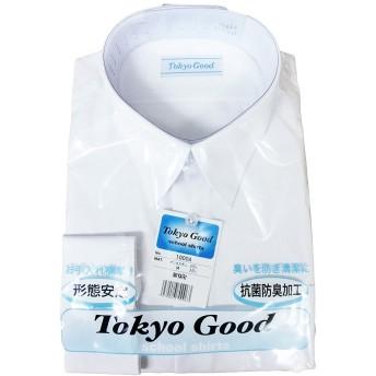 スクール Yシャツ 男子 学生 ワイシャツ A体 B体 長袖 半袖 形態安定 抗菌 防臭 (150A, 半袖)