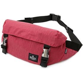 [トップイズム] ショルダーバッグ ウエストバッグ ウエストポーチ メンズ ボディバッグ ヒップバッグ カバン かばん 鞄 ナイロン 4-レッド F