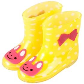 Plus Nao(プラスナオ) 子供用 長靴 レインブーツ レインシューズ 男の子 女の子 ベビー キッズ 猫 ウサギ カエル 雨具 15 16 17 18 19 16 ウサギイエロー