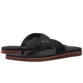 Quiksilver(クイックシルバー) メンズ 男性用 シューズ 靴 サンダル フラット Haleiwa Plus - Black/Black/Brown 14 D - Medium [並行輸入品]