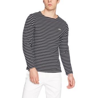 [ラコステ] コットンピケ ボーダーバスクシャツ (長袖) TH206EL メンズ ネイビー EU 003-(日本サイズM相当)