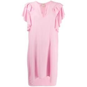 Nude フリル シフトドレス - ピンク