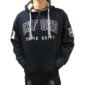 公式オックスフォード大学ジップフーディー - オックスフォード大学の公式服装