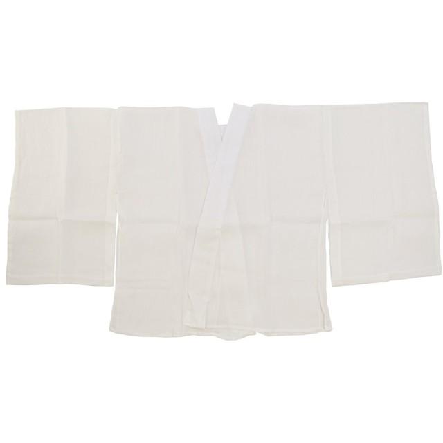 和装下着 本麻手もみ揚柳 半襦袢 L うそつき襦袢 半衿付 肌着 肌襦袢 日本製 レディース