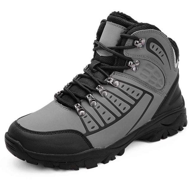 [TWDEFY] スノーブーツ メンズ 暖かい 保暖 裏起毛 ウィンターブーツ 防水 防寒 防滑 アウトドアシューズ 防寒靴 滑り止め 雪靴 カジュアル 登山靴 レインシューズ 大きいサイズ