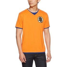 [ドラゴンボールゼット] Tシャツ 半袖 なりきり キャラクター 悟空 悟飯 ピッコロ オレンジ(亀) L