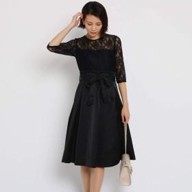 (エージー バイ アクアガール) AG by aquagirl ◆【洗える】シャイニーレースドレス C1256001 38(M) ブラック(019)