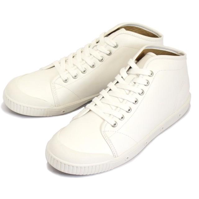 [スプリングコート] B2N-V5 B2 Leather (B2レザー) メンズ ハイカットスニーカー WHITE (ホワイト) SPC017-40-約25.0cm-25.5cm