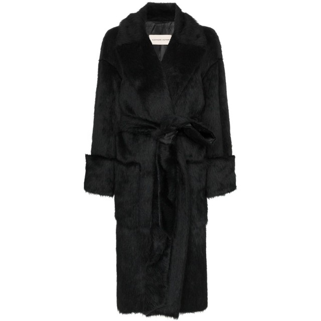 Alexandre Vauthier ベルテッド コート - ブラック