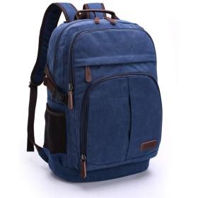 男性と女性の大容量ファッションカジュアルキャンバスバックパック屋外荷物バッグ