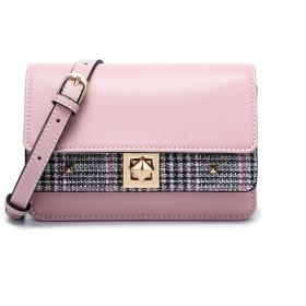 DOODOO レディースバッグ ショルダーバッグ ハンドバッグ トートバッグ 斜めかけバッグ 財布 2way PUレザーに 桜色
