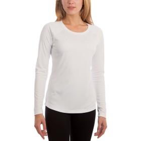 Vapor Apparel レディース UPF 50+サンプロテクションパフォーマンス ロングスリーブTシャツ - M - ホワイト