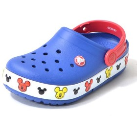 CROCS(クロックス) サンダル クロックスライツ ミッキー クロッグ キッズ crocslights Mickey clog kids 子供 ジュニア C10(17.5cm) 4O5-cerulean blue crocs-mickey-C10-203072-4O5