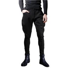[RSWHYY] メンズ スキニーパンツ ロングパンツ ノーアイロン テーパードパンツ ストレッチ 修身 メンズファッション ブラック XXXL