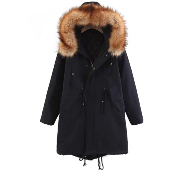 EASONDDD レディース モッズコート アウター コート ジャケット ミリタリーコート 中綿コート 長袖 中綿 フード付き フェイクファー ミリタリー ロング カジュアル エレガント ゆったり 大きいサイズ 体型カバー