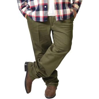 Hanes(ヘインズ) チノパン メンズ ストレッチ ツータック チノパンツ ワークパンツ スラックス 大きいサイズ 97 カーキ(41)