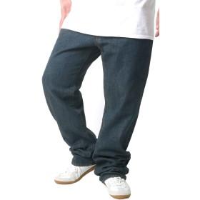 [ヘインズ] 大きいサイズ ジーンズ デニム ロング パンツ ストレート メンズ クラシックブルー 105