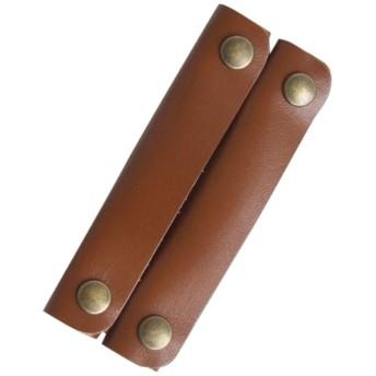 かごバッグ、サイザルバッグ用の本革ハンドルカバー 2枚1組 (キャメル)