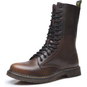 マーティンブーツ メンズ エンジニアブーツ ハイカット 革靴 本革 ファッション アウトドア 超楽 防水 防寒 滑り止め付