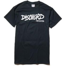 ディスコード・レコード DISCHORD RECORDS Tシャツ バンドt/old logo - ブラック/White -M