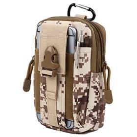 [ノーフ] Norph コンパクトベルトポーチ カラビナ付きでリュックやバッグに取り付け可能モデル ( iphone6 plus 以下のサイズに対応) (デザート迷彩)