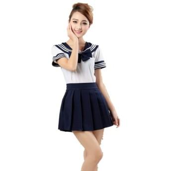 Missley Japanese Uniform Women Anime School Girl Uniform Outfit Dresses (ブラック, L)