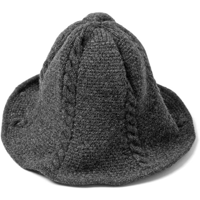 (エムエイチエー) M.H.A.style ニット ハット ワイヤー フレアブリム レディース 帽子 ナチュラル 21640 A.グレー