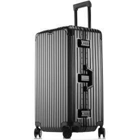 SGG スーツケース 超大容量 ユニバーサルホイール キャリアケース 大型 受託サイズ メンズ レディース キャリアバック (M, ブラック)