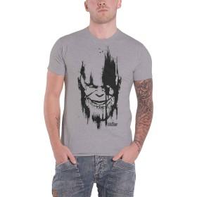 Avengers Infinity War T Shirt Thanos Head ブラック 新しい 公式 Marel メンズ グレー Size XXL