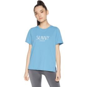 [ダンスキン] フィットネスウェア ALPHADRYクルーTシャツ [レディース] DB79113 プラウドブルー (PU) 日本 M (日本サイズM相当)