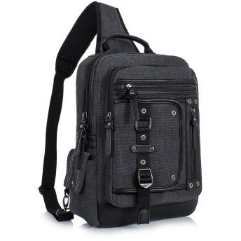 Leaper(リーパー) ビッグ ボディバッグ ショルダーバッグ 大容量 メンズ YF3003 ブラック