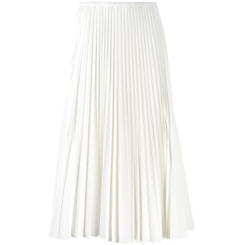 Fendi プリーツ ミディスカート - ホワイト
