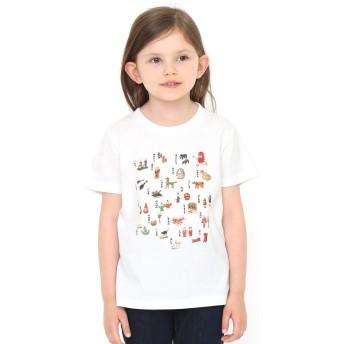 (グラニフ) graniph コラボレーション キッズ Tシャツ だるまちゃん すごろく (かこさとし) (ホワイト) キッズ 100 (g28) #おそろいコーデ