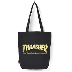 [スラッシャー] THRASHER キャンバス トートバッグ (BLACK×GOLD MAG LOGO)