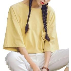(ノーブランド品) Tシャツ カットソー ビッグTシャツ BIGT 無地Tシャツ tシャツ シンプルTシャツ レディース 大きいサイズ ゆったり