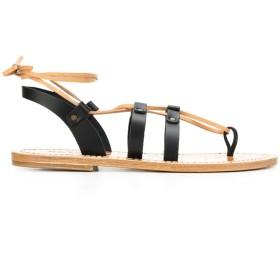 Solange Sandals マルチストラップ サンダル - ブラック
