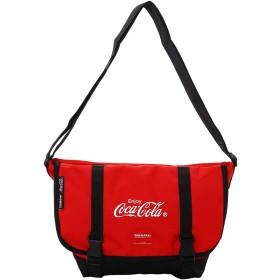 コカ・コーラ×YAKPAK(ヤックパック) メッセンジャーバッグ レッド メンズ レディース ユニセックス コカ・コーラ公式グッズ