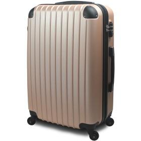 【 アウトレット商品 】 スーツケース 超軽量 3サイズ( 大型 Lサイズ/中型 Mサイズ/小型 Sサイズ) キャリーバッグ TSA搭載 ファスナー (小型 Sサイズ 1~3泊用, ゴールド)