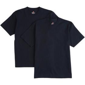 [ヘインズ] ビーフィー Tシャツ BEEFY-T 2枚組 綿100% 肉厚生地 ヘビーウェイトT 生地が丈夫で肌になじむ メンズ ネイビー 日本 M (日本サイズM相当)