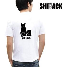 SHIBACK ホワイト 半袖Tシャツ お散歩 おでかけ 春夏 (L, ホワイト SB06-SBF01)