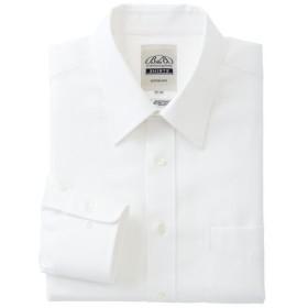 【メンズ】 綿100%播州織り形態安定Yシャツ ■カラー:ホワイト・ドビー(レギュラー衿) ■サイズ:50(裄丈88)
